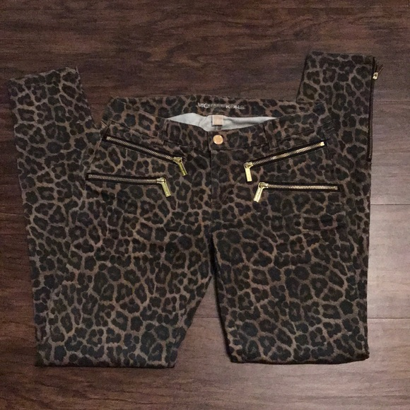 4f051fce35cc Michael Kors leopard print skinny jeans. M_5c37f6bbc2e9fe1066e223ee